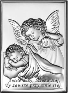 Srebrny Obrazek - Aniele Boży 2
