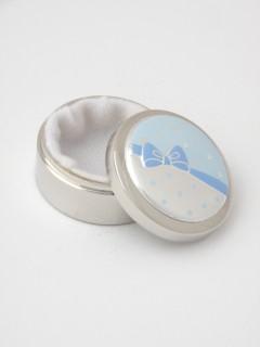 Pudełeczko na pierwszy ząbek- zdobienie niebieskie