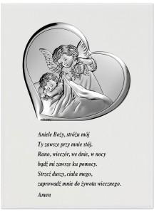 Obrazek na drewienku z modlitwą 11,5x15,5 cm