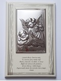 Obrazek Anioł Stróż na drewienku z modlitwą 9x14 cm