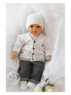 Komplet do chrztu dla chłopczyka-biały
