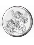 Srebrny Obrazek z Aniołkiem 11cm