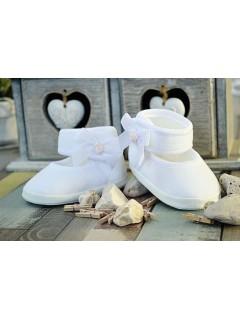 Balerinki welurowe- białe