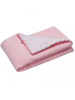 Ciepły kocyk  MINKY -  Różowy