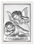 Srebrny Obrazek - Aniele Boży 3