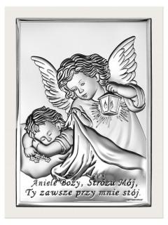 "Srebrny Obrazek ""Aniele Boży"""
