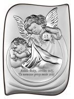 Srebrny Obrazek z modlitwą 13,5x18 cm DUŻY