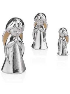 Srebrna Figurka Anioła Stróża - wys. 7 cm