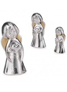 Aniołek z seruszkiem - figurka 10 cm