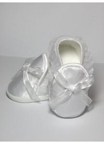 Atłasowe buciki z kokardką