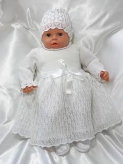 Ażurowa sukienka na Chrzest