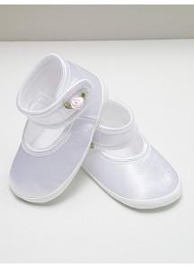Atłasowe balerinki - białe