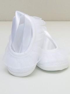 Pantofelki z szarfą-koronkowe 2