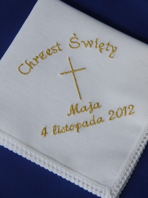 Haftowane szatki do chrztu z bawełny