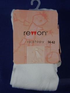 Rajstopki bawełniane gładkie Rewon- białe