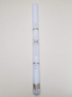Ręcznie zdobiona świeca z różyczkami