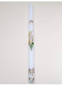 Ręcznie zdobiona świeca- I Komunia Święta