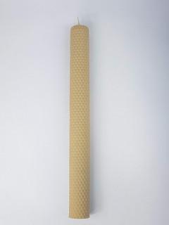 Naturalna świeca z wosku pszczelego 33cm